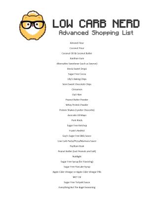 Advanced Shopping List